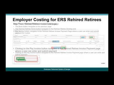 Video: How to Submit Payment for Rehired Retiree Costs