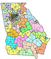 Map Of Georgia State.Interactive Maps Employees Retirement System Of Georgia